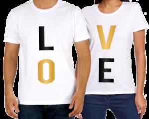 egyedi póló nyomtatás Valentin napra